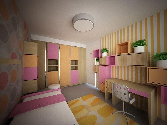Návrh interiéru dívčího pokoje, návrh interiéru dívčího pokoje vpraze , návrh interiéru pro developery, návrh interiéru pro developery vpraze, návrh interiéru dětského pokoje, návrh interiéru dětského pokoje praha, bytový designer praha, bytový design praha