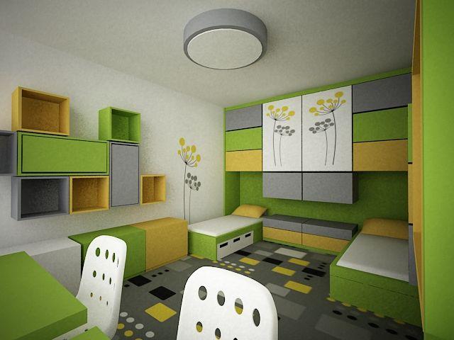 Návrh interiéru chlapeckého pokoje, návrh interiéru chlapeckého pokoje vplzni , návrh interiéru dětského pokoje, návrh interiéru dětského pokoje plzeň, bytový designer plzeň, bytový design plzeň